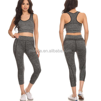 genuine shoes popular stores selected material Cheap Bulk Buy Wholesale Sexy Ladies Gym Apparel Plain Grey Blank 2 Piece  Stretch Active Wear Clothing Manufacturers China - Buy Ladies Clothing ...