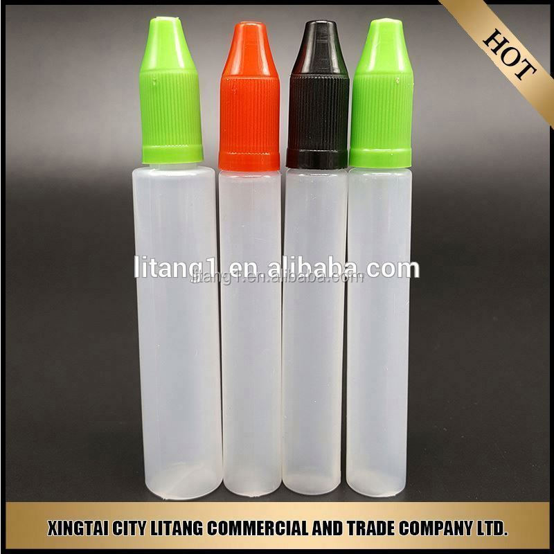 hot new products for 2015 pem shape pe essential oil bottle with dropper
