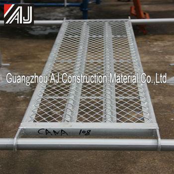 Guangzhou Galvanized Steel Mesh Walk Board Scaffolding