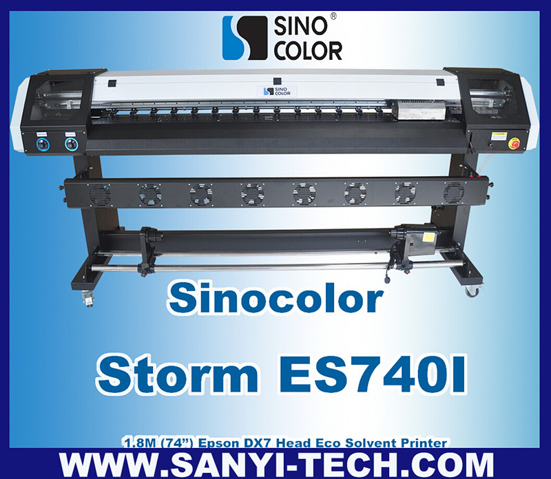 Latest 1.8m DX7 Head Inkjet Plotter, Sinocolor ES740i With Photoprint 11 Rip Software