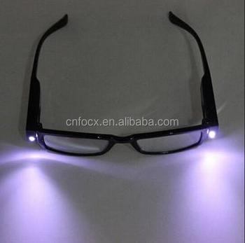 a33c015538 LED de las luces de lectura gafas/gafas de visión nocturna con lámpara/gafas