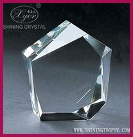 Wholesale Clear And Blank K9 Crystal Round Corporate Awards