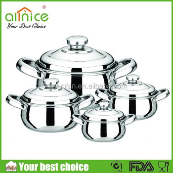 4pcs set africa styple stainless steel cooking pot set for Buy kitchen cookware
