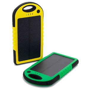 Portable solar charger power bank 5000mah with different colors