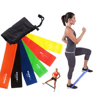 Latex Resistance Fitness Band Custom Elastic Stretch Leg Exercise Resistance Band