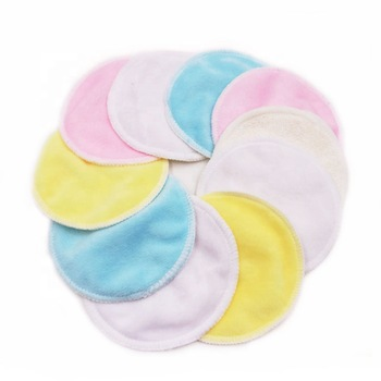 Beste Kwaliteit Ronde Bamboe Katoen Herbruikbare Make-Up Remover Pad Wasbare Facial Cleaning Pad Met Wasgoed Netto Zak