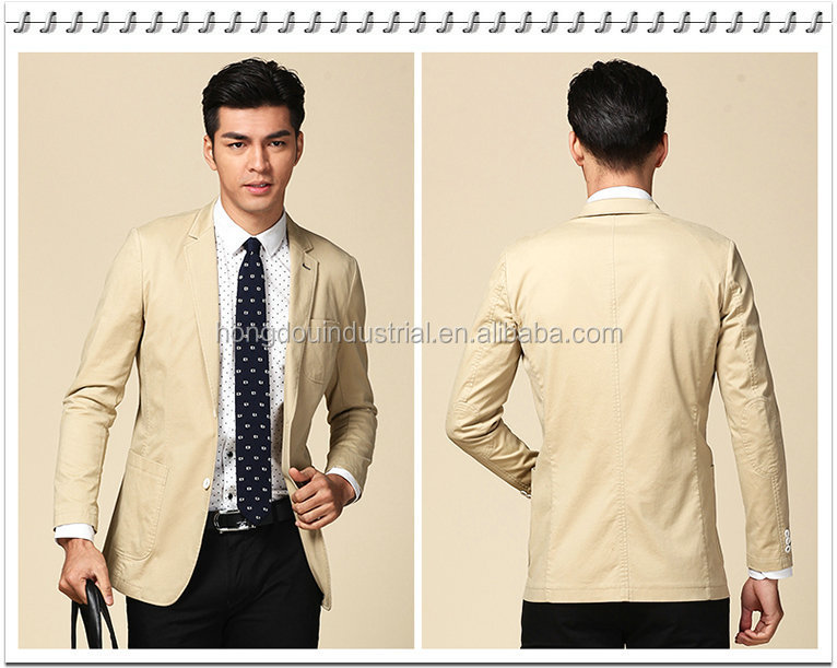2016 Men's Casual Business Suit Jacket Beige Yellow Color - Buy ...