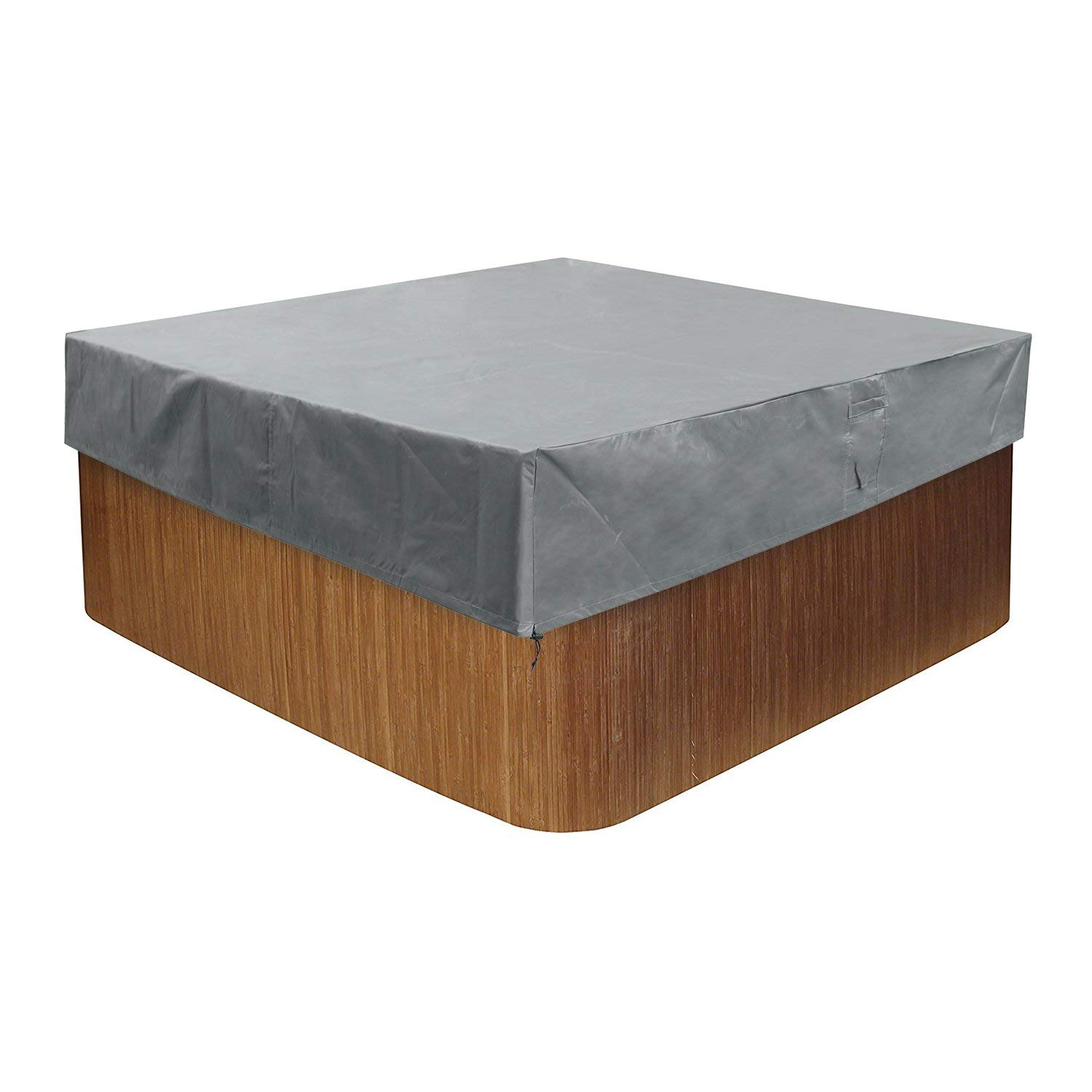 """CKClub 88"""" W x 88"""" D x 14"""" H Outdoor Heavy Duty Square Hot Tub Cover Water Resistant Durable All Season Protection Large"""