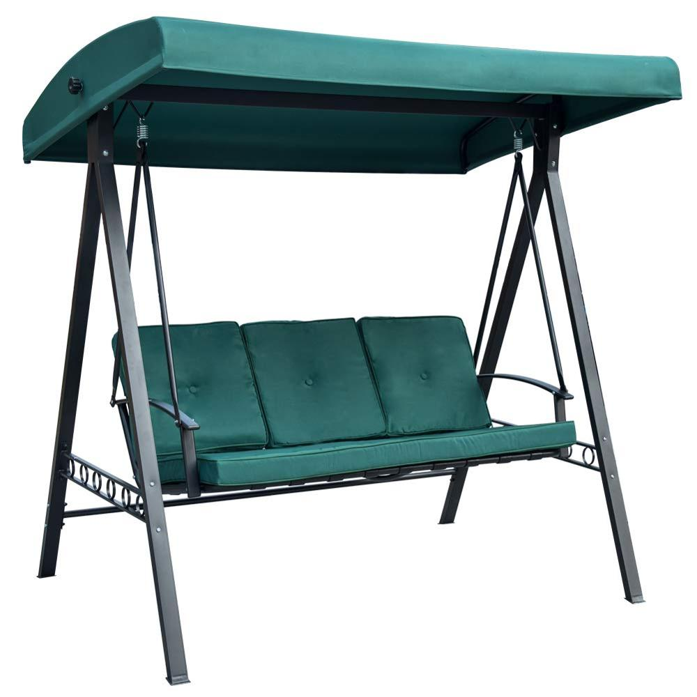 Admirable Outdoor Steel Frame Deluxe Patio Garden Porch Canopy 3 Seats Swing Bench Chair Buy Garden Swing Chair Canopy Swing Chair Patio Swing Chair Product Camellatalisay Diy Chair Ideas Camellatalisaycom