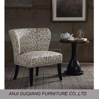 living room furniture armless wooden sofa chair wing chair sofa GQ-017