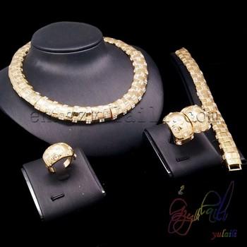 Big Factory Custom Made 18k Gold Jewellery Dubai Fashion Jewelry