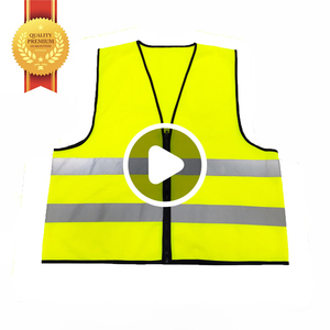 China Factory Hi Vis Wholesale Disposable Airport Police Construction Security Reflective Safety Vest With Pocket Clothing