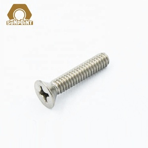 GB819 Stainless Steel 304 Countersunk Cross Recessed Flat Head Machine Screw