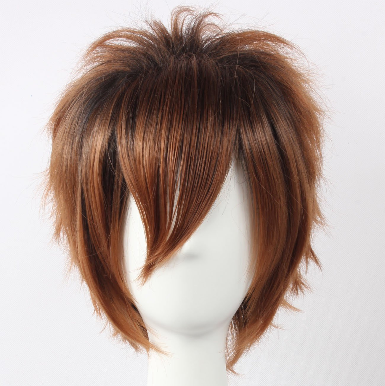 Coolsky Wig Dark Brown Wig Short Dark Brown Layered Wig Sawada Tsunayoshi HIT