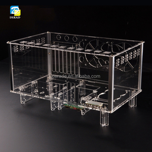 PC-D779XM Horizontal MircoATX HTPC Acrylic Transparent Desktop PC Water Cooling Computer Case