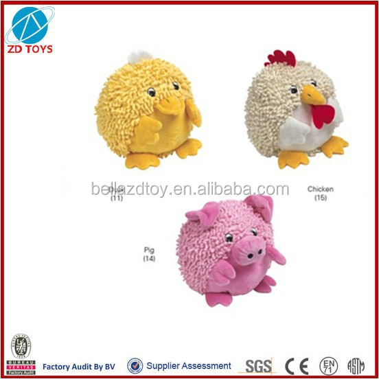 lovely colorful plush toy small animals