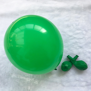 cheap thick latex 10 inch green color standard balloons