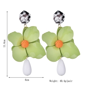 Decorative fashion earring stud four-leaf clover earrings For Women