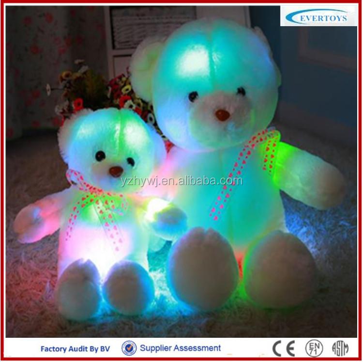Light Up Teddy Bear Plush Toy Led Teddy Bear Colorful Teddy Bear ...