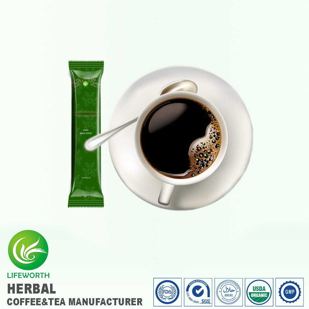 Lifeworth China Famous Coffee Brands Instant Mocha Powder With Maca Extract For Enhance Blood Circulation