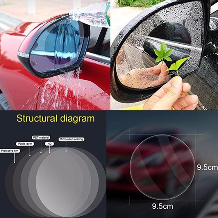 Safe travel on rain days Side mirror round shape anti fog film for car