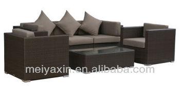High Quality Dark Brown Sofa Rattan Furniture Philippines