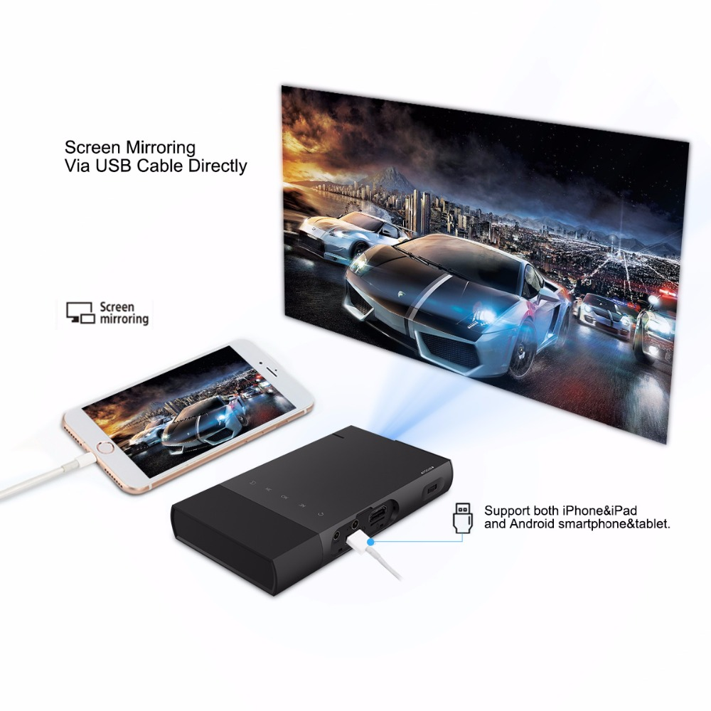 Wireless Multimedia Home Theater Video Projector S1 mini dlp portable projector support 1080p 3d 4k