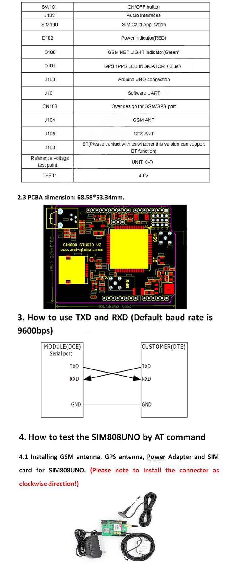 Gsm Gps Shield Development Boardsim808 Unosim808 Demo Board Buy Module Pcba Pcb Assembly Circuit