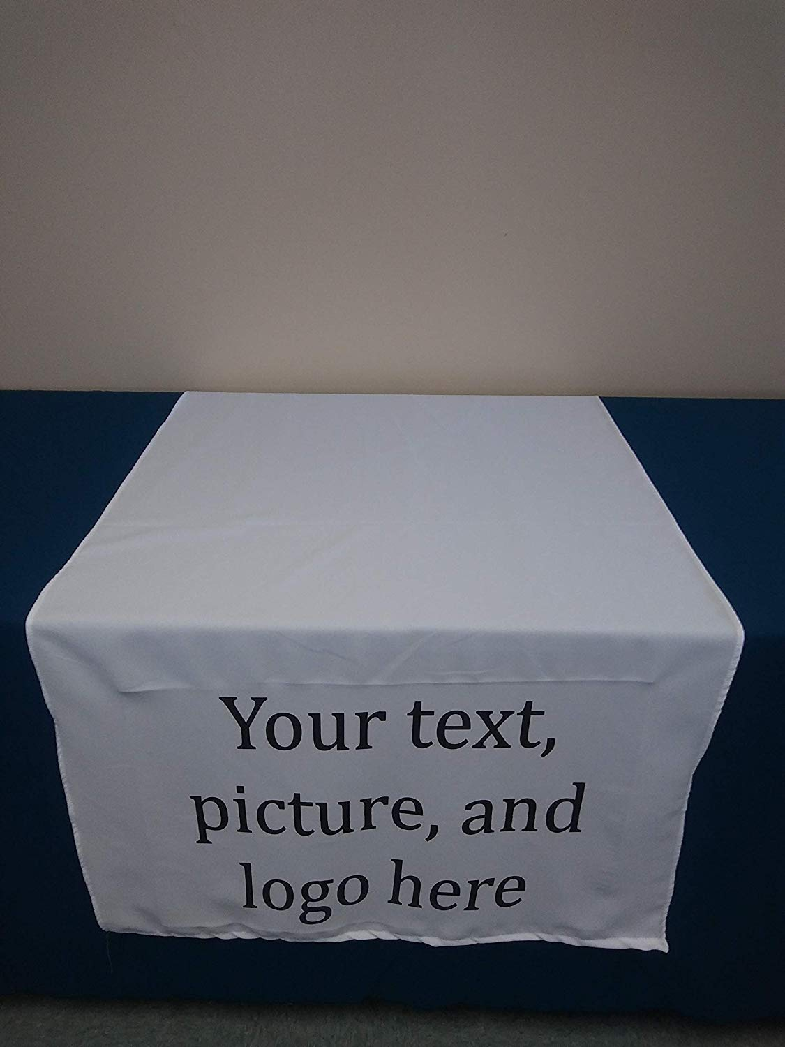 """Solid Tablecloth 60"""" by 132"""" Personalized table runner/banner for events, family, party, Religious, Vendors, promote U picture. Teal, Sage green, Brown, White, Taupe, Purple Grape, Slate Blue"""