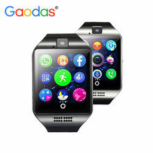 Bluetooth Smart Watch Q18 With Camera Facebook Whatsapp Twitter Sync SMS Smartwatch GT08 DZ09 U8 Support SIM TF Card For Android