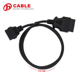 High quality Diagnostic Connector Male to Female Extension Connect OBD 16P TO 1.5m OBD Connect Cable with factory price