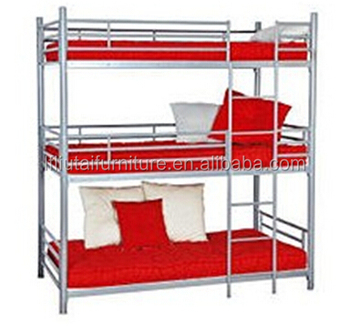 3 Person Metal Bed Double Bunk Steel