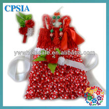 Christmas baby dress Fairy Red Whited Polks dots 4pcs/sets party dress outfits