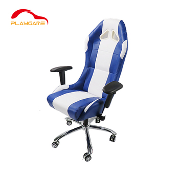 Hot Selling Ergonomic Bucket Seat Gaming Chair Racing Style with Rolling Wheel Armrest PU Leather Swivel Reclining Bucket Seat