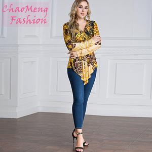 23b4e41409c5 2004  2018 Front pendulous fashion clothing with thin blouse   tunic muslim  formal silk blouse