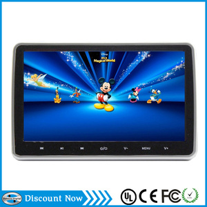 Android 4.0 System 10 inch car pillow headrest monitor dvd player with Wifi,3G,High digital Screen,Capacitive Touch