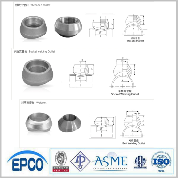 Sa sw forged steel pipe fittings threadolet and