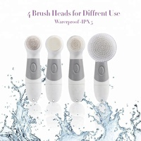 2018 New Wholesale 4 in 1 Waterproof Electric Facial Cleansing Brush for Personal Skin Care Deep Cleansing Facial Brush