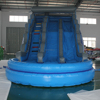 Summer hot sale christmas sales fun large double lane slip inflatable water slide pool for children's school holiday programmes