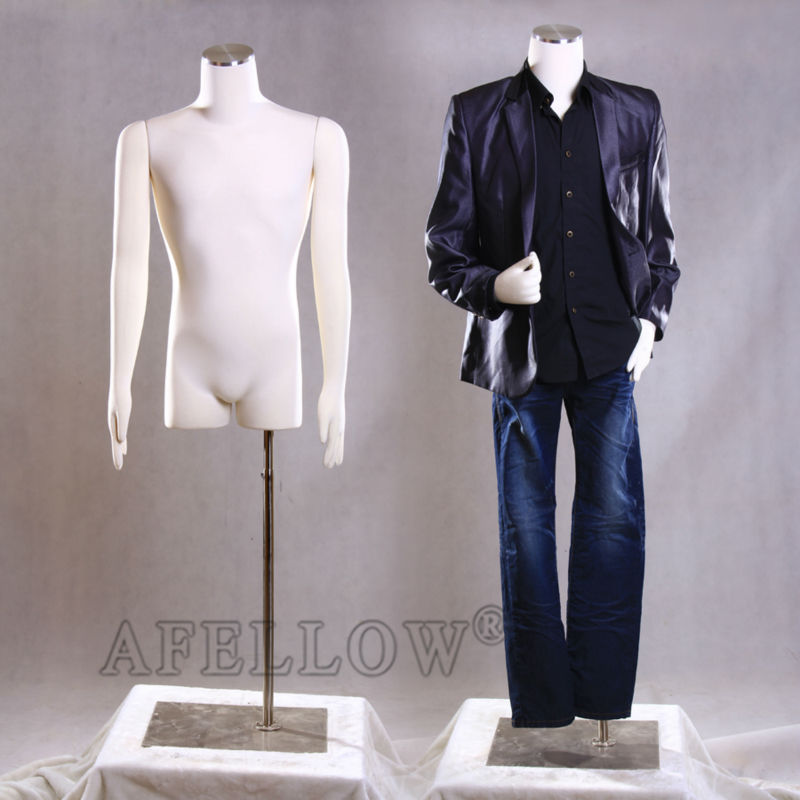 AFELLOW Female Mannequin Maniqui High Quality Upper Body Fabric Male  Adjustable Dress Form With Flexible Arm