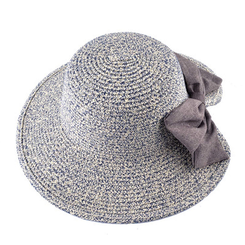 3a534b55bf64b Get Quotations · Sllxgli Hat female big round face sun hat straw hat  fisherman hat
