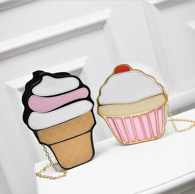 alibaba china cute Cake ice cream shape Shoulder Bag Crossbody PU Bag for girl
