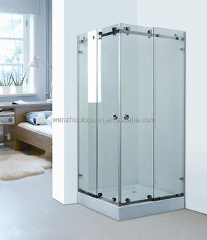 Stainless Steel Tempered Glass Shower Cabin /DIY Square Bathroom