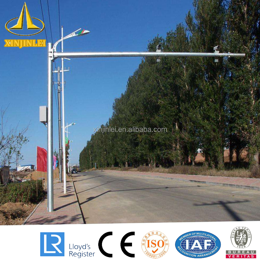 Galvanized CCTV Camera Mounted Pole
