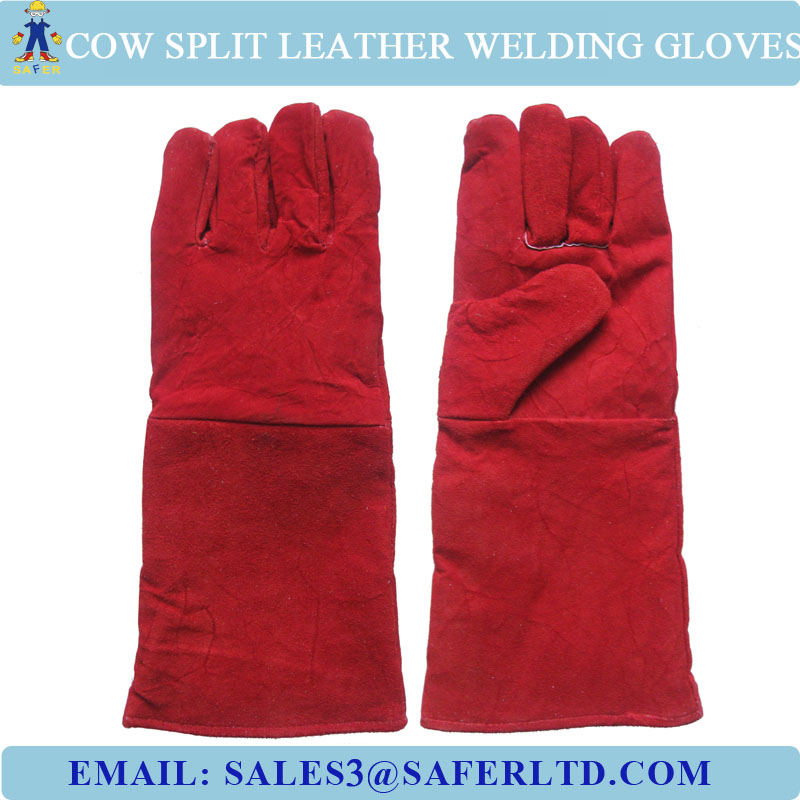 16 Inch Cow Split Leather Cheap Welding Gloves For Middle East ...