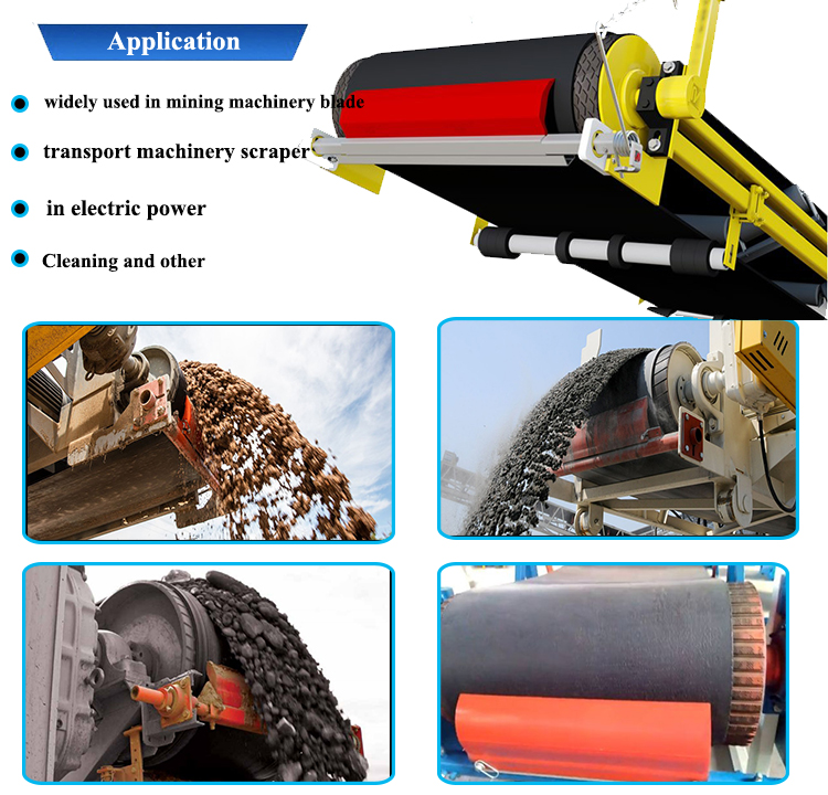 Abrasive Resistance Conveyor Belt Cleaner Scraper Blades for Mine