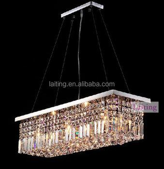 Hanging Lighting Fixture Of Ceiling,Rectangular K9 Crystal Ball ...