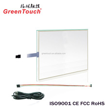 "17"" 5wire Resistance touch screen glass usb controller with Win7/8/10 3M ELO system"