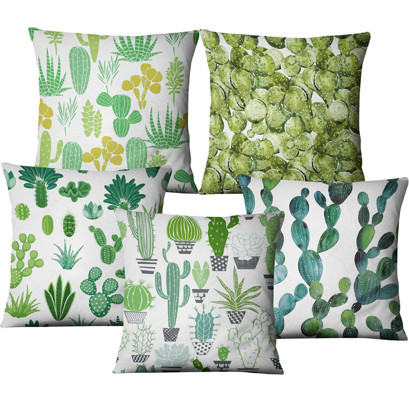 Ebay Amazon Hot Sale Decorative Pillowcases Cactus Cushion Cover