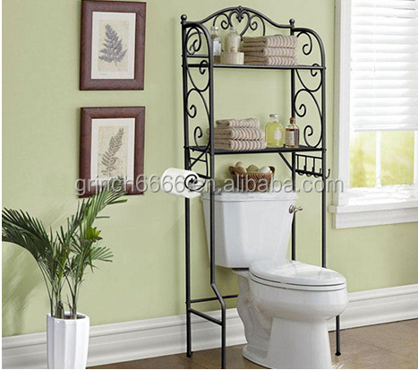 wc regal badezimmer regal ber der toilette regal. Black Bedroom Furniture Sets. Home Design Ideas